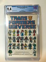 Transformers Universe TPB CGC 9.4 1987 Marvel Comics G1 2nd highest grade! NM