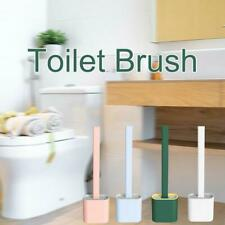 Silicone Toilet Brush with Toilet Brush Holder Creative Cleaning Brush Tools New