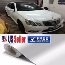 "Premium GLoSSy White Vinyl Wrap Film DIY Customize Sticker Decal 72""x60"" 5FTx6FT"