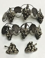 Sterling Silver Grape Vine Cluster Vintage Taxco Mexico Earring / Hair Accessery