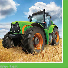 John Deere Inspired Tractor Time Beverage Napkin Birthday Party Supplies Farm