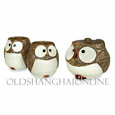 Owl Ceramic Tea Set (Brown)