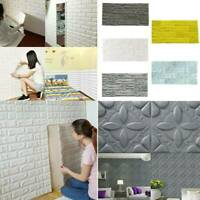 US 3D PE Foam Self Adhesive Panel Stone Wall Stickers Home Decor Embossed Brick