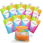 Baby Brezza Reusable Baby Food Storage Pouches, 10 Pack 7oz - Make Organic Food