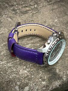 Genuine Purple Leather Watch Strap 22/20mm 24/22mm Lug Watches