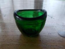 Vintage Antique Bristol Green Glass Eye Glass Bath Nice Shape Unmarked Moulded