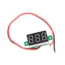Mini DC 2.5-30V Voltmeter LED Panel 3-Digital Display Volt Voltage Meter 2-wire