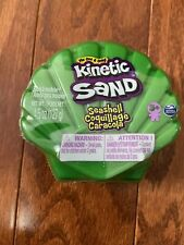 NEW~KINETIC SAND-Single Can 4.5oz size  GREEN SHELL  FREE SHIPPING