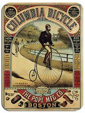 Vintage Columbia Bicicletas anuncio Mouse Mat. Penny Farthing Bicicleta Ciclismo Mouse Pad