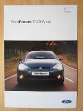 FORD FOCUS TDCi SPORT 2003 UK Mkt sales brochure