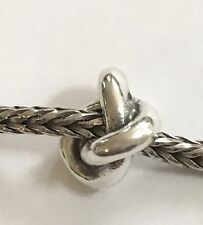 Authentic Trollbeads Trefoil Knot Sterling Silver Bead