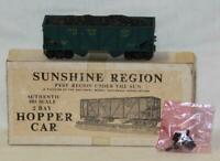 NMRA Sunshine Region SSR 337 HO Scale Two Bay Hopper w/Coal Load Assembled Kit
