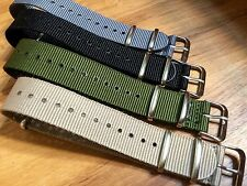 20mm Canvas Watch Band Strap Nylon Lot Of 4 For TIMEX Weekender - USA - NEW!