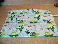 """Cover Only For Electric Heating Pad ~Turtles & Frogs Flannel 12"""" X 15"""" #2663"""