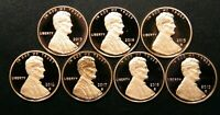 2013 2014 2015 2016 2017 2018 2019 S Lincoln Shield Cent Gem Proof Penny Set