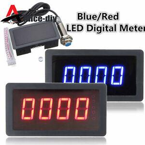 12V Hall Proximity Switch Sensor NPN +4 Digital Tacho Tachometer RPM Meter B2AD