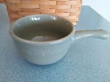 Longaberger Pottery Chili bowl Sage green Woven Traditions NEW in box