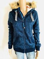 Superdry- schönes Sweatshirt Sweatshirtjacke in blau - NEU Gr 34 XS 2883ok