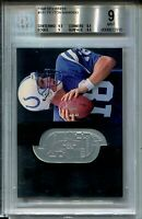 1998 SPx Finite Football #181 Peyton Manning Rookie Card RC Graded BGS MINT 9