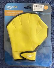Speedo Aqua Fit Swim Training Gloves for Resistance Training Xl Uv Yellow 1 Pair