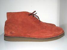 Lacoste Bradshaw Mid Burnt Orange Suede Chukka Desert Boots UK8 EU42 US9