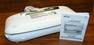 Rival (VS75) Seal-a-Meal Corded Vacuum Food Storage Bag Sealer w/ Owner's Guide