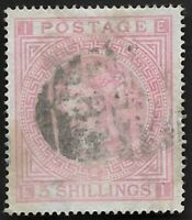 1874 QV SG127 5s Pale Rose Plate 2 Very Fine/Fine Used CV £1500