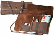 Woodland Tobacco Pouch / Leno Bag Made of Soft UNTREATED Buffalo Leather