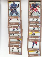 06/07 OPC New York Rangers Team Set with Rookies and Inserts - Lundqvist +