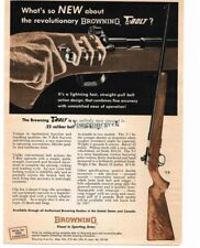 1966 Browning T-1 T-2 .22 Calibre Rifle with T-BOLT Vtg Print Ad