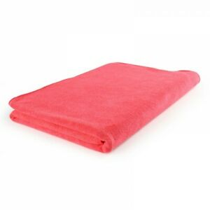 Microfibre Bathsheet Towel - absorbent, compact, quick-dry - Red 2 sizes