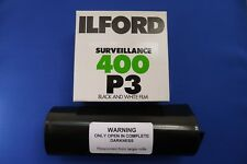 35 mm Bulk Film 25 ft (environ 7.62 m) (7.5 M) X35mm ILFORD P3 400 ASA b&w surveillance Film