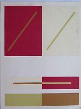 Josef Albers Original Silkscreen Folder VII-5/Right Interaction of Color 1963
