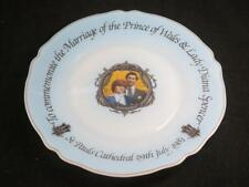 Commemorative Opaque Glass Plate Charles & Diana Wedding 1981 ARCOPAL