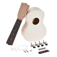 21'' Soprano Ukulele Hawaii Guitar DIY Kit Maple Wood+Full Accessories Gift B9U4