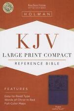 KJV Large Print Compact Reference Bible, Purple Leathertouch (2013, Imitation...