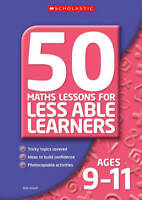 50 Maths Lessons for Less Able Learners Ages 9-11, Bob Ansell, Used Very Good Bo