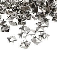 DIY 10mm Metal Punk Rock Square Pyramid Spike Rivet Studs Nailhead Craft