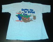 Vintage Looney Tunes Down on the Farm Bugs Daffy Graphic Tshirt Men's size L