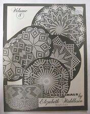 Vintage 1979 Elizabeth Hiddleson Crochet Pattern Book Vol. 8 Doilies Designs