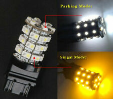 2pcs 3157 Switchback White + Amber LED Turn Signal Light Bulbs With Resistors