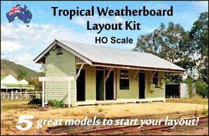 "HO Scale Australian RAILWAY BUILDING ""TROPICAL"" STARTER KIT"