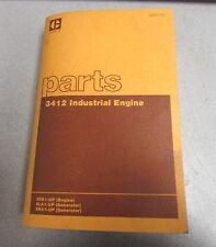 Caterpillar Cat 3412 Industrial Engine Parts Catalog Manual 38S1 5LA1 5NA1 1980