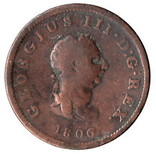 More details for 1806 half penny of george iii.  - nice collectible coin    #22