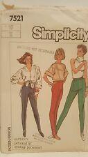 Pattern Simplicity # 7521 Pants Personal Fit Size 10 1986  Uncut