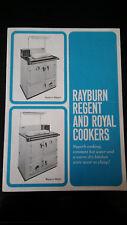 RAYBURN REGENT & ROYAL COOKERS SOLID FUEL OVEN ADVERTISING LEAFLET PAMPHLET 1969