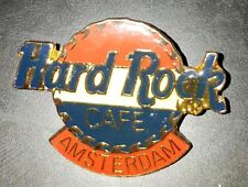 Hard Rock Cafe pin Amsterdam Large red/white/blue ribbed flag logo