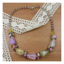 "19"" Necklace Costume Jewellery Statement pastel Crystal Party Boho Fashion 185"