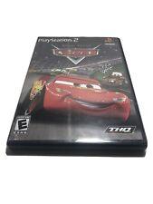 DISNEY PIXAR Cars BLACK (Sony PlayStation 2) PS2 GAME COMPLETE LIGHTNING MCQUEEN