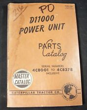 CAT Caterpillar D11000 Power Unit Parts Manual Book Catalog 4C8001 to 4C8378